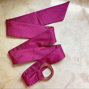 EXPRESS •silk tie through belt